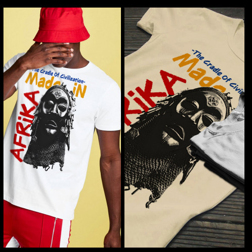 Made In Africa Tribal Mask T-Shirt