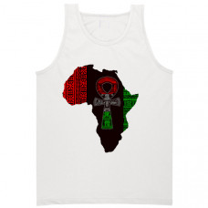 African Map And Ankh Tank Top